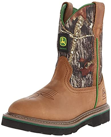 Johnny Poppers Tan Crazy Horse Foot Mossy Oak Nylon Top Kids Boots (Jd3188M6) UK -5M