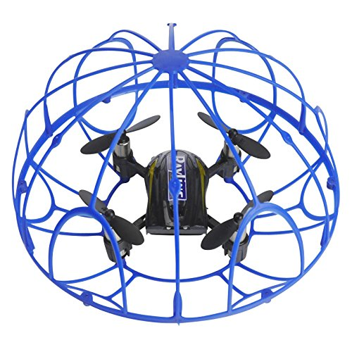 FPS RTF Bundle: Rayline RX3, Schwarz, 2.4G RC NANO Drohne Training Mini Quadrocopter, Trainingsdrohne mit Käfig, Übungsdrohne, 6 Achsen Gyro, flexibler Schutzkäfig, 3D Flips, inkl. Akku & 3xAA - 6