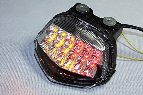 Led Feu arrière de frein clignotants pour Kawasaki Ninja Zx250r 2008 2009 2010 clair