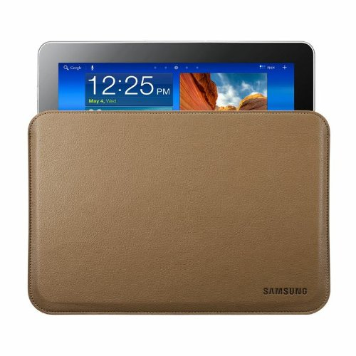 Samsung Original Ledertasche EFC-1B1LCECSTD (kompatibel mit Galaxy Tab 10.1 / 10.1N) in camel brown
