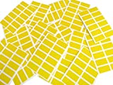 200 Labels, 25x12mm Rectangle, Yellow, Colour Code stickers, Self-Adhesive Sticky Coloured Labels