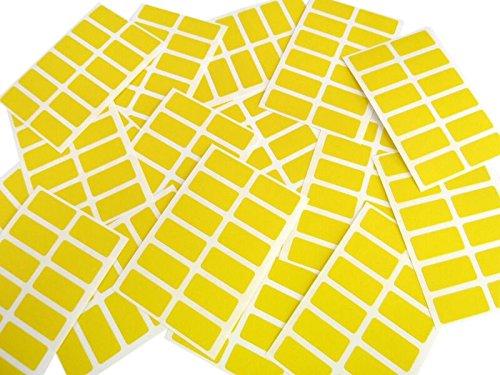 Minilabel - Etiquetas adhesivas rectangulares (para codificación por colores, 25 x 12mm, 200 unidades), color amarillo