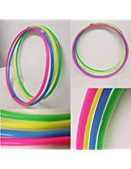 FLICKBUYS® Plain Primary Colour Kids/Adults Small Large Hula Hoops Sporting Good Fitness Hula Hoops