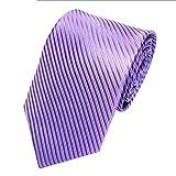 UJUNAOR Edle Herren Fliegen Krawatte in gestreift Gemustert - Tie Binder(Lila)