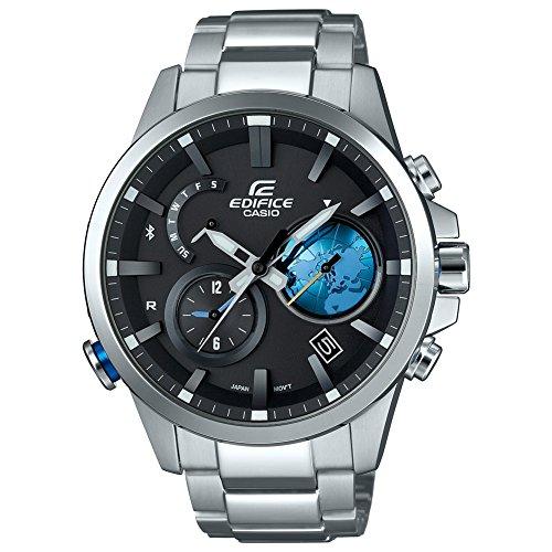 Casio Herren Uhr Analog Quarz mit Edelstahlarmband EQB-600D-1A2ER