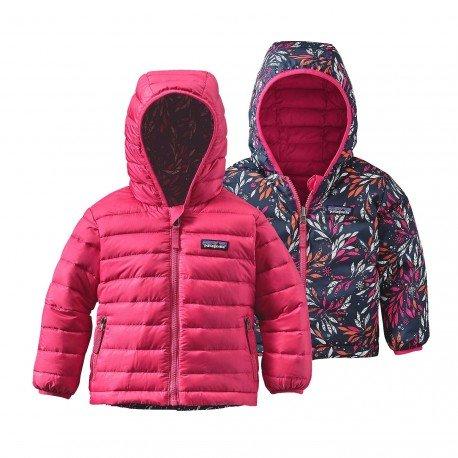 Patagonia Baby Reversible Down Sweater Hoody Magic Pink (Kids), Magic Pink (Sweatshirts Hoody Reversible)