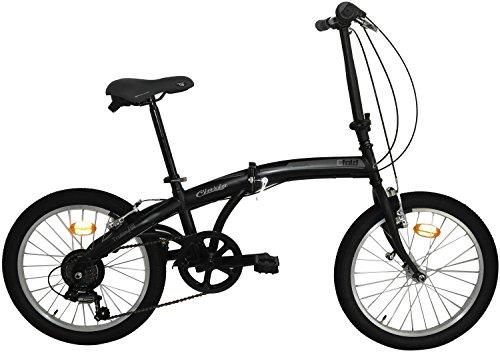 20 Zoll Cinzia Trolley Faltrad 6-Gang, Farbe:schwarz