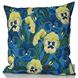 Sunburst Outdoor Living 60cm x 60cm ROMANCE Pansy Flowers Decorative Throw Pillow Cushion Cover for Couch, Bed, Sofa or Patio - Only Case, No Insert