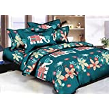 Grand Collections Best Premium Latest King Queen, Kids Under 15 Loving, Cotton Double & Single Bedsheet With 2 Pillow Covers, Blue