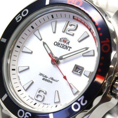 Orient FSZ3V005W0Deep Diver Women's Wristwatch (Quartz Mechanism, Date Display, Rubber Strap) - Silver Colour