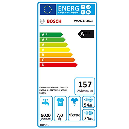 Bosch WAN24100GB 7kg 1200rpm A+++ Freestanding Washing Machine – White