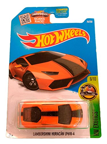 Hot Wheels Error - Lamborghini Huracan LP610-4 - Serie HW Exotics 6/10 (Long card)