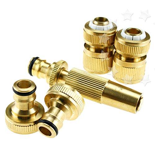 Generic yanhonguk 150730-2149 1yh3971yh 4 Pistolet Raccord connecteur k KIT de robinet de jardin GARDEN TA-Adaptateur raccord rapide en laiton pour tuyau d'arrosage en laiton 4 \