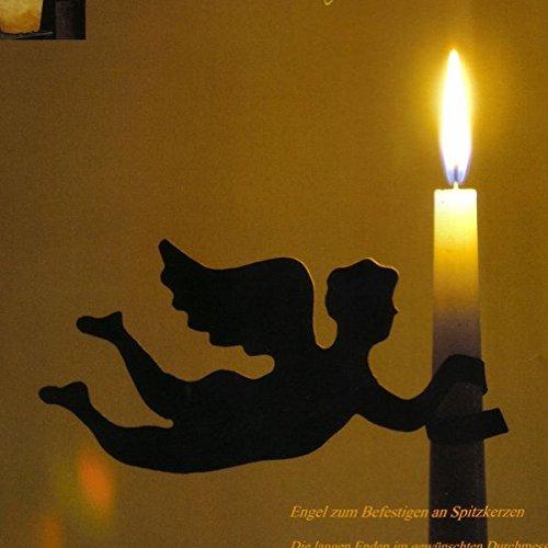 Rost - kleiner Engel zum Einhängen für Spitzkerze - 3 Stück - Indoor & Outdoor - Tischdeko & Kerzenhalter