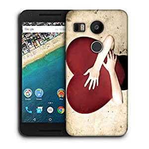 Snoogg Falling In Love Printed Protective Phone Back Case Cover For LG Google Nexus 5X