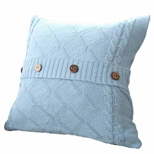 Jamicy 45cmX45cm maglieria gettare cuscino casi Cafe divano letto casa cuscino decorazione copertina Cielo blu