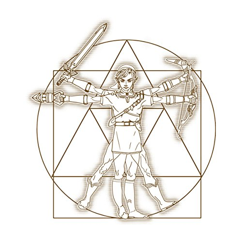Zelda Vitruvian Link Women's Hooded Sweatshirt white