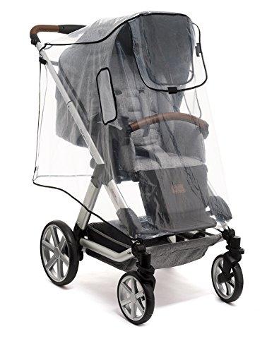 Reer - Protector para la lluvia para silla de paseo tamaño XL