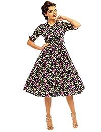 Looking Glam Vestido Inspirado en Camisas de los años 40 para Damas
