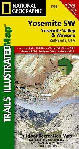Yosemite Sw, Yosemite Valley & Wawona: Trails Illustrated National Parks (National Geographic Trails Illustrated Map)