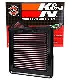 #2: K&N 33-2422 High Performance Replacement Car Air Filter