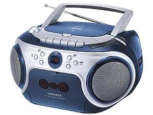 Scott SW M7 Radio-Rekorder (CD/MP3/WMA-Player, Kassettendeck, FM-Tuner) hellgrün
