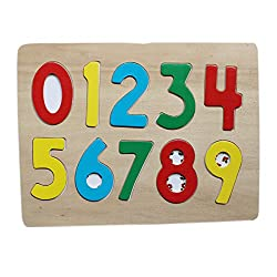 Wooden Number Puzzle Board - Number Recognition Toy Wooden Board