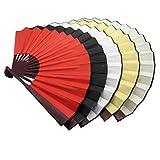 TrendBox Traditionelle Faltfächer Chinesischen Hand-Nylongewebe-Partei-Kugel Tanzen Leistung Pratice Unisex 5 Farbe