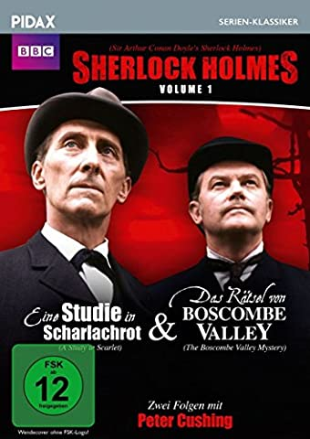 Sherlock Holmes, Vol. 1 (Sir Arthur Conan Doyle's Sherlock Holmes) / 2 Folgen der legendären Krimierie mit Peter Cushing (Pidax Serien-Klassiker)