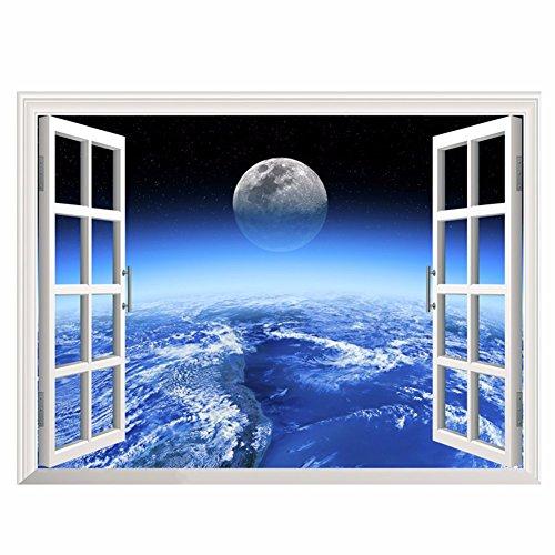 Decorazioni di natale per halloween 3d (stella), parete finta finestra / stereo / camera da letto / salotto / tv / divano / background / decorazione / adesivo (60 * 90cm)