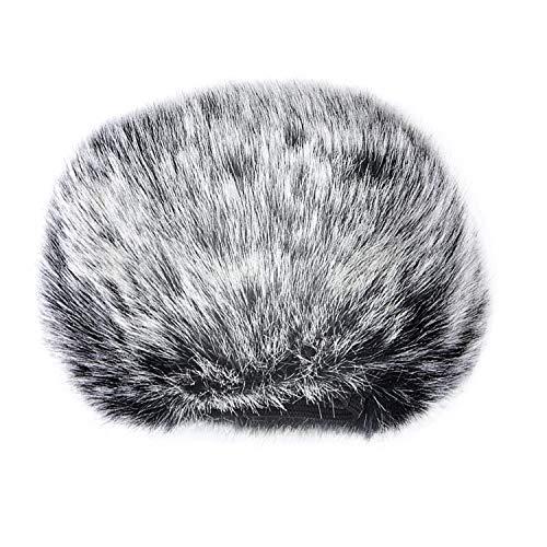 Sunmns mic Furry parabrezza Muffs Wind cover for Blue Yeti, Yeti pro microfono a condensatore Black,White