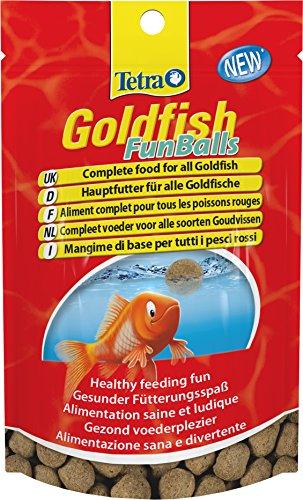 Tetra Goldfish FunBalls (schwimmende Futterbälle für mehr Fütterungsspaß, Hauptfutter für alle Goldfische, Alleinfutter in Premiumqualität), 3er Pack (3 x 20 g)
