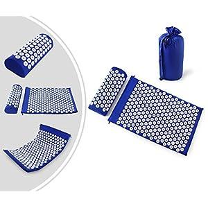 Leogreen – Akupressurmatte und Kissen-Set, Massage-Set für Zuhause, mit Tasche und Kissen