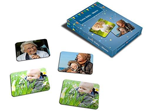 MEINSPIEL Foto-Memo-Spiel / Memospiel mit Ihren Fotos / 32 Kartenpaare - Format 65*50mm / Personalisierte Geschenkidee für Groß und Klein / Gedächtnisspiel - Denkspiel