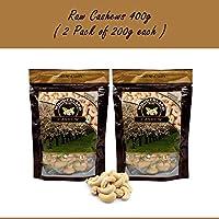 Wonderland Foods 100% Natural Premium Quality Plain Raw Cashews, 400g Pack of 2 (200g Each)