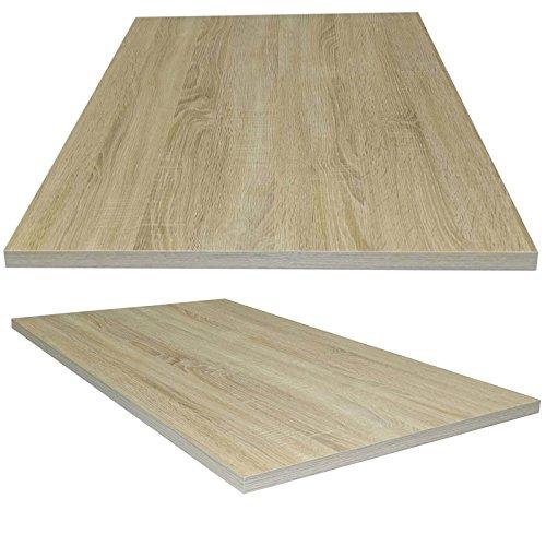 Tischplatte aus Holz für Schreibtische - Holzplatte perfekt geeignet für Schreibtisch, Couchtisch/Esstisch - Verschiedene Größen & Farben (105x60cm, Sonoma Eiche)