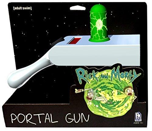 Rick and Morty Replica Portal Gun con proyección 23,5x14,5x7,5cm Gris Verde
