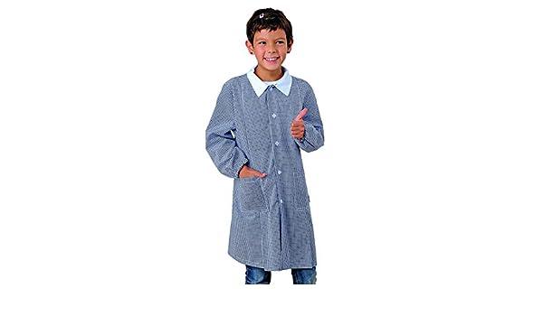 Grembiule Pollicino Isacco per asilo e scuola materna 3-6 anni 4 anni, Quadretto blu