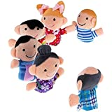 Kuhu Creations Supreme Baby Story Telling Puppet Toys, Happy Family (6 Pieces)