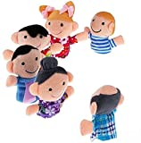 Kuhu CreationsTM Supreme 6 Pcs Family, Baby Story Telling Finger Puppets.