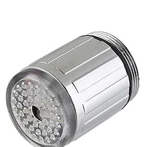 Sharplace 7-Farbwechsel Wasserhahnaufsatz LED Wasserhahn Aufsatz für Waschbecken Bad Küche Armatur