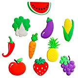 Ahatech Kühlschrank Magnete kinder Magnete Whiteboard Früherziehung Kreative Dekoration Simulation Obst und Gemüse 10Stk./Pack