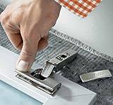 Topfband Eckanschlag 10er-Set: BLUM Clip Top mit Schließautomatik Scharnier ohne Einzug-Dämpfung inclusive Montageplatte