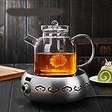 bollitore Teiera di vetro ispessimento termoresistente bollitore teiera alta temperatura Tea set, pot + argento fornello elettrico di ceramica