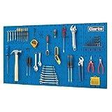 Clarke International - Tablero de pared para herramientas, acero, 113 x 1,4 x 63 cm, color azul