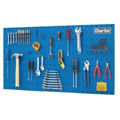 Pannello attrezzi da parete per garage in acciaio 1130 mm x14 mm x 630 mm
