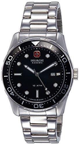 Swiss Military Hanowa Herren-Armbanduhr XL Analog Quarz Edelstahl 06-5213.04.007