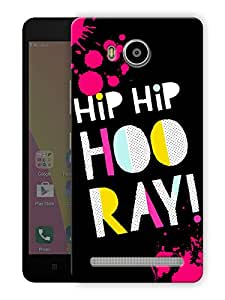 "Ulta Anda Hip Hip Hooray Happy Quote Printed Designer Mobile Back Cover For ""Lenovo A7700"" (3D, Matte Finish, Premium Quality, Protective Snap On Slim Hard Phone Case, Multi Color)"