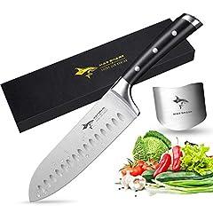 Idea Regalo - MAD SHARK Coltello da Cuoco PRO da Cucina Coltello,Forgiata Lama Acciaio Inossidabile TedescoManico Ergonomico,la Scelta Migliore per la Cucina e Il Ristorante di casa (7)