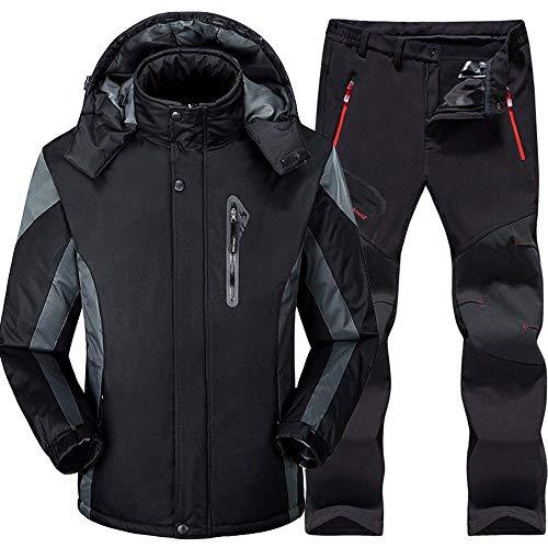 QZHE Skianzug Skianzug Herren Ski- Und Snowboard-Sets Warme Wasserdichte Winddichte Snowboardjacke + Hose Winter-Schnee-Anzüge, XXXL